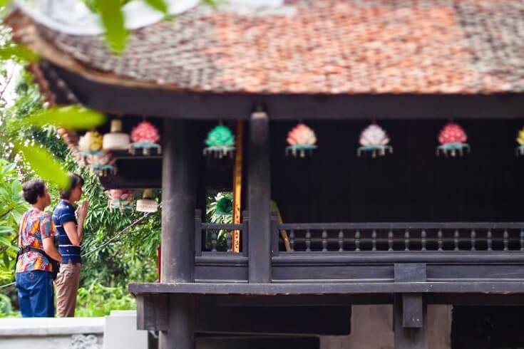 Architecture de la pagode au pilier unique