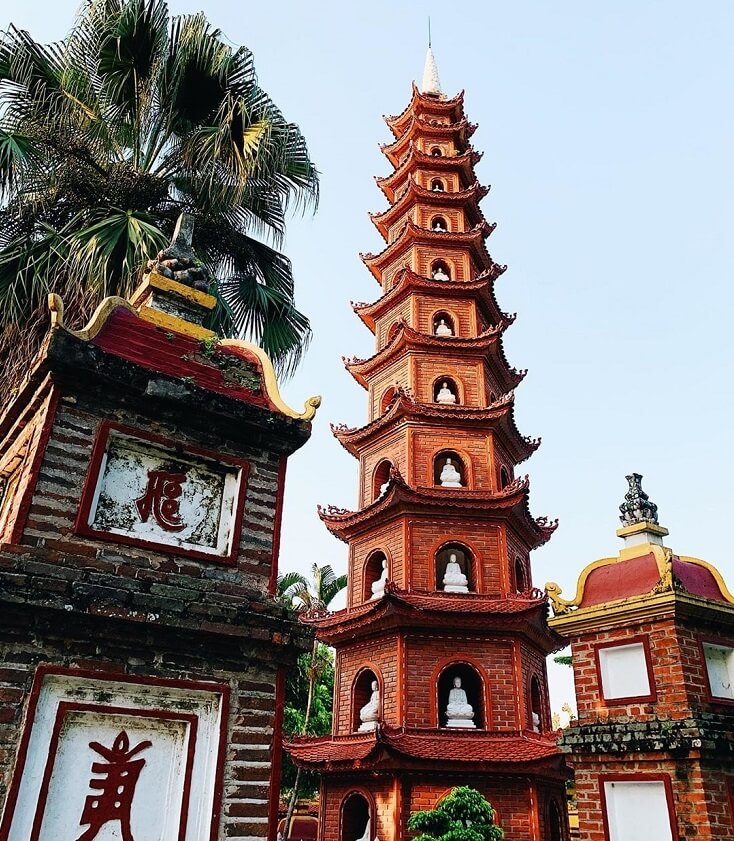 Architecture et structure de la pagode Tran Quoc
