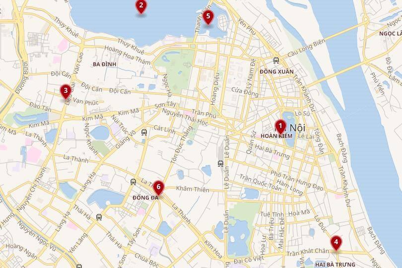 Carte de Hanoi hotel