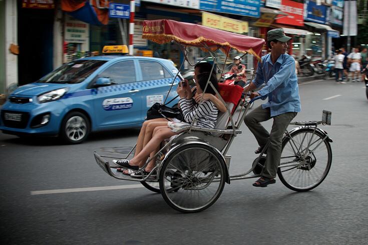 Découvrir Hanoï en cyclo-pousse