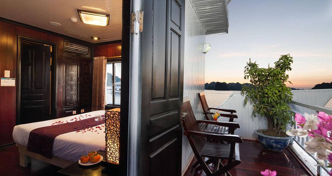 Jonque Aclass Legend cabine baie d'halong