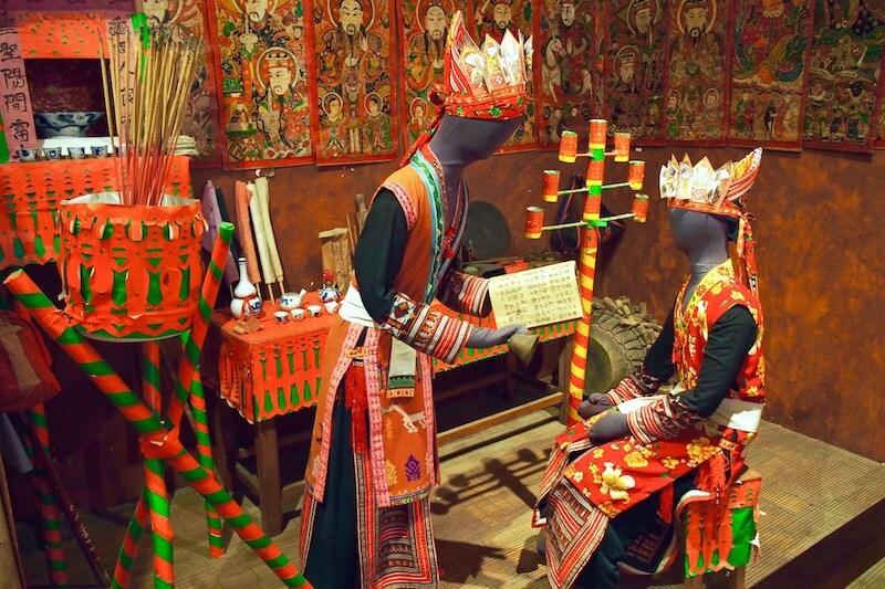 La partie intérieure du Musée d'Ethnologie Hanoi