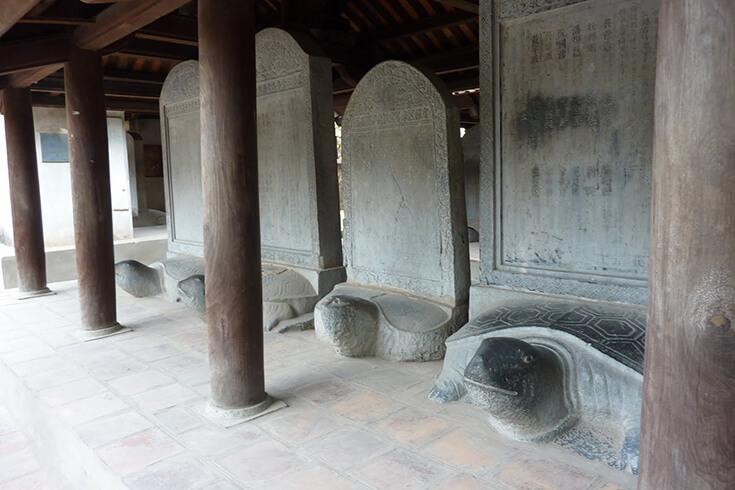 La troisième cour – puits Thien Quang et Stèles de docteur