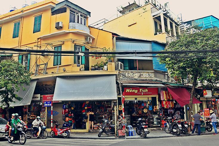 Promenade dans le vieux quartier de Hanoi