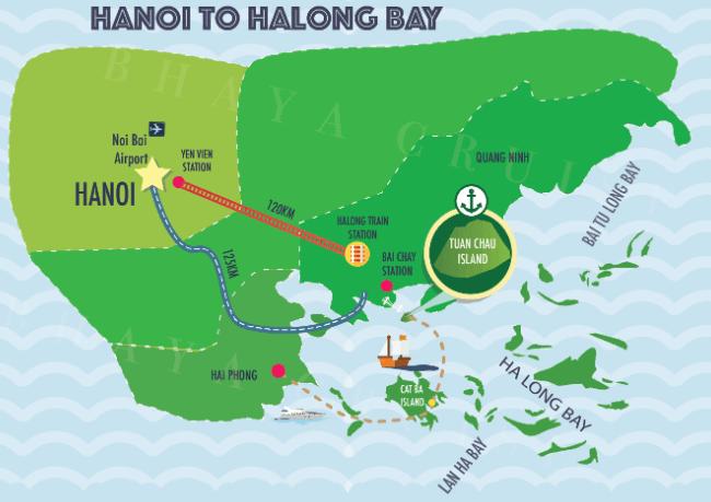 Se rendre de Hanoi à la baie d'Halong
