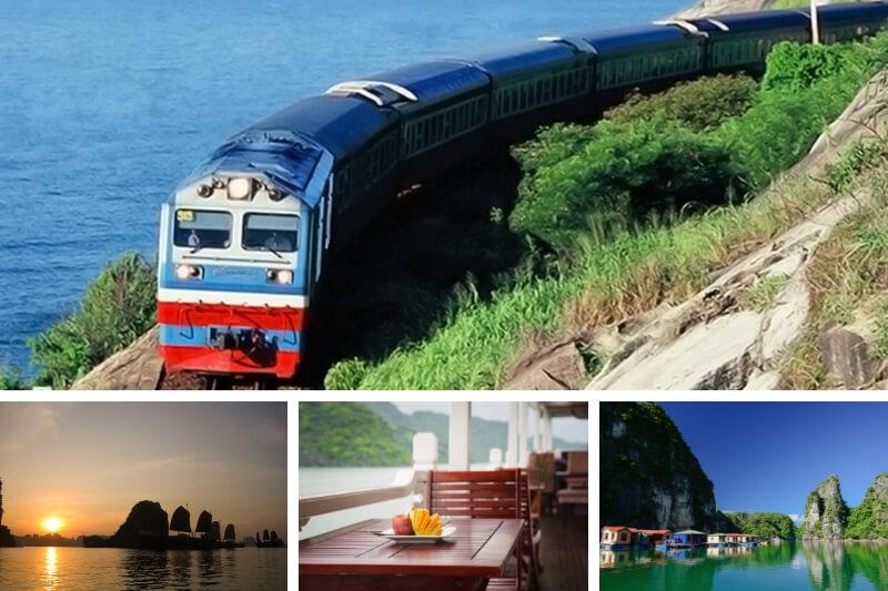 Transport de Hanoi à la baie d'Halong en train