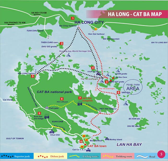 attractions de la baie d'halong
