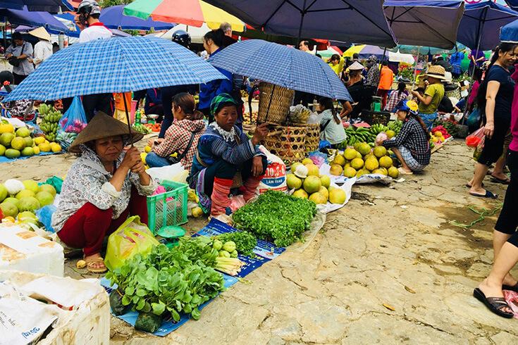 Alimentation ethnique, légumes et herbes