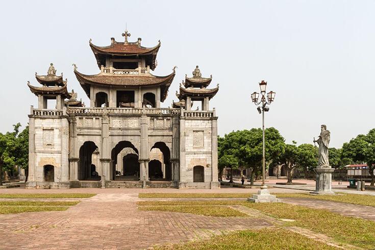 Aperçu de la cathédrale de Phat Diem