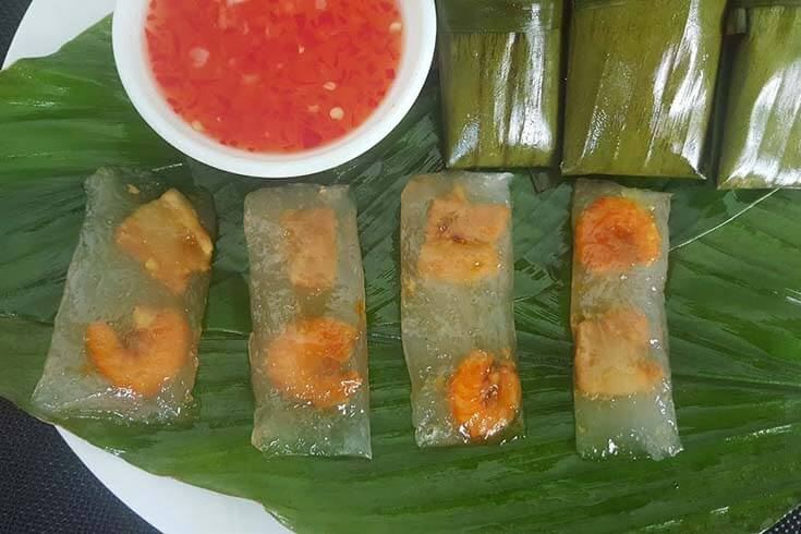Banh Loc Goi (boulettes de tapioca)