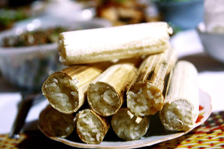 Com lam, ou riz gluant en bambou
