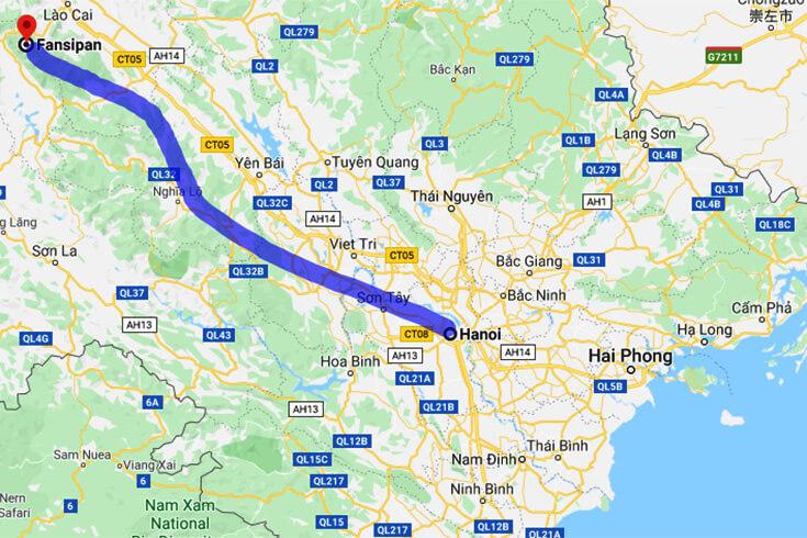 Comment se rendre au mont Fansipan depuis Hanoi