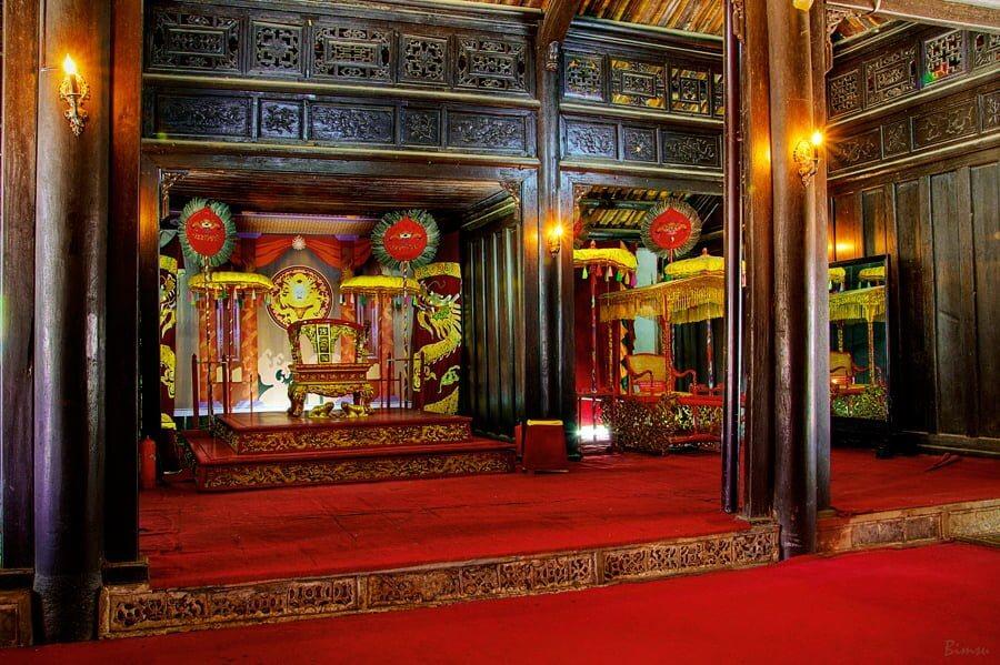 La zone du temple
