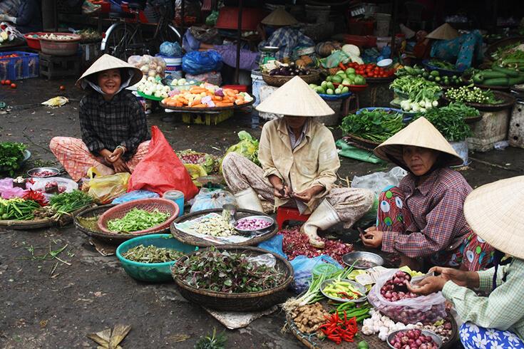 Valeurs culturelles du marché de Dong Ba Vietnam