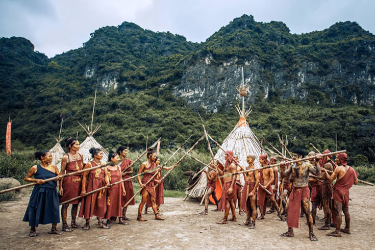 Village tribal à Kong Film Skull Island