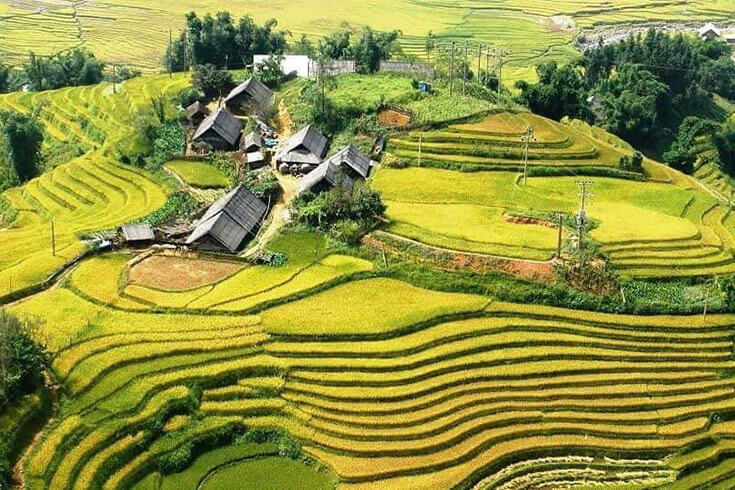 Vue d'ensemble de la vallée de Muong Hoa – Vallée de Sapa