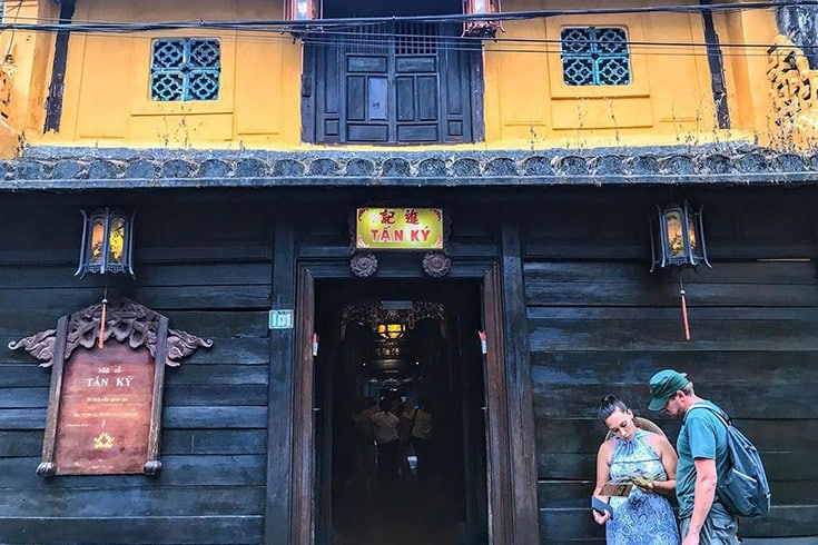 Architecture de la vieille maison de Tan Ky