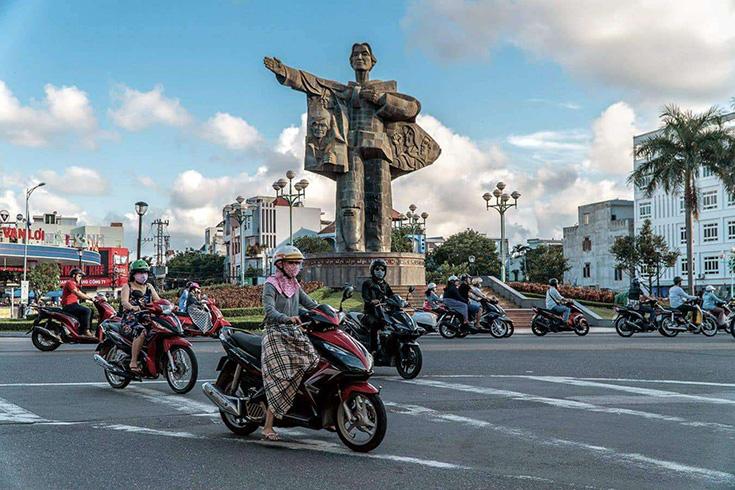 De l'aéroport de Da Nang à Hoi An en moto