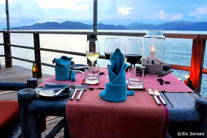 Dining by The Bay à Six Senses Ninh Van Bay