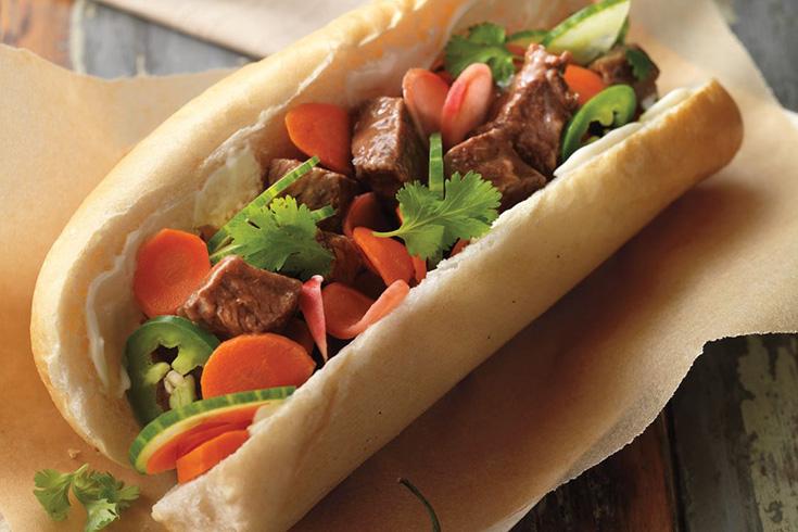 Ingrédients de Banh Mi – sandwich vietnamien