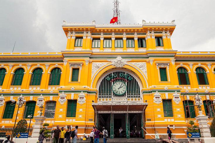 L'architecture de la poste centrale de Saïgon