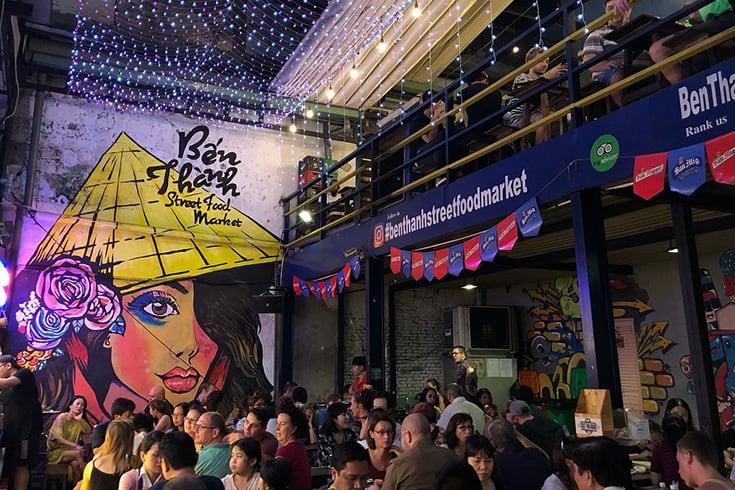 Marché alimentaire de la rue Ben Thanh