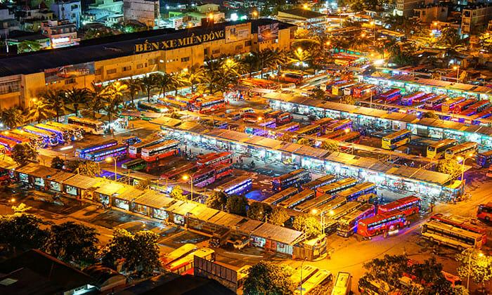Prendre le bus pour Saigon - Ho Chi Minh Ville depuis Hanoi