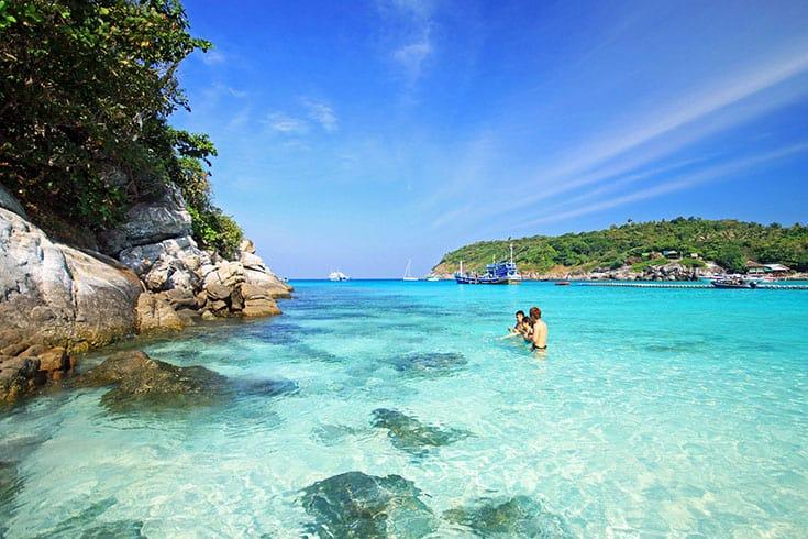 Snorkel sur l'île de Cham