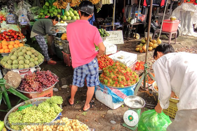 Le marché de Duong Dong